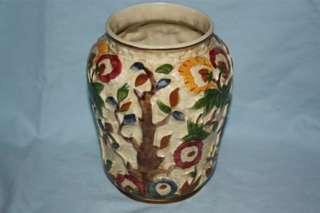 Wood Indian Tree large Hand Painted Vase