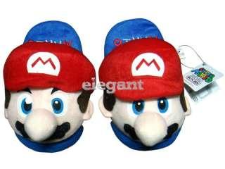 Nintendo Super Mario Bros Rouge 9 Peluche Pantoufles