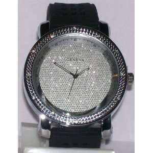 Silver Plated Icey Face Hip Hop Streetwear Watch