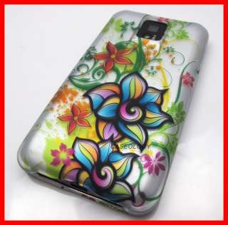 FLOWERS HARD SHELL CASE COVER LG T MOBILE G2X PHONE ACCESSORY