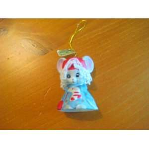 Lil Chimers Handpainted Bisque Porcelain Mouse Bell