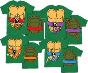 TMNT Teenage Mutant Ninja Turtles Costume T Shirt Tee