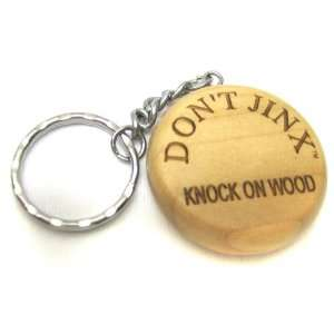 Dont Jinx Knock On Wood Wooden Key Chain 05: Office