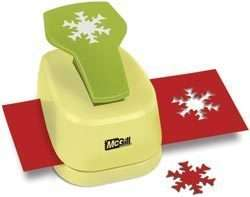 Alpine Snowflake ROSE Paper Blossoms Lever Punch McGill