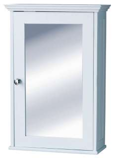 White Bathroom Cabinet on White Wood Wall Mounted Bathroom Cabinet New With Mirrored Door