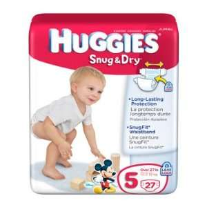 Huggies Snug & Dry Diapers, Size 5   27 ct Baby