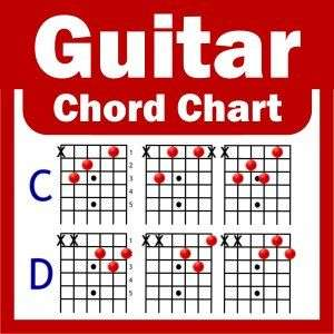 Acoustic / Electric Guitar Chord Chart   NEW   A4