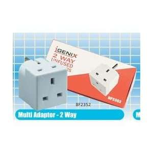 Pik a Pak *13Amp 2 Way Multi Adaptor Fused A02