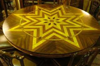 6FT ART DECO INLAY ROUND DINING TABLE TABLES