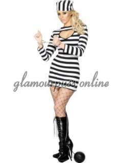 Jail Bird Prison Convict Fancy Dress & Hat ALL SIZES