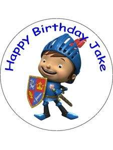 Birthday Cake Topper Round 7.5 Pre Cut Mike the Knight Personalised