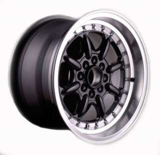 of four brand new 15 3sdm alloy wheels finished in black polished lip
