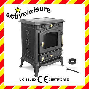JA010 Cast Iron Multifuel Wood Log Burning Stove 7kw 0608866256328