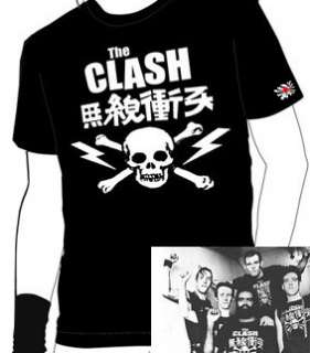 The Clash Japan Skull and Bones T Shirt   All Sizes