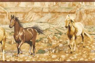 WILD HORSES IN THE CANYON NICE Wallpaper bordeR Wall