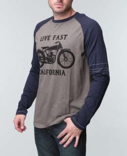 Live Fast California Long Sleeve Raglan Shirt