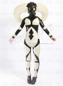 Inflatable Horn Bull Catsuit gas mask suit bodysuit costume