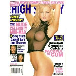 High Society Magazine October 1999 Catherine Zeta Jones