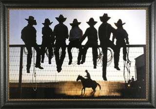 The Lesson David Stoecklein Cowboys Western Horses Framed Picture