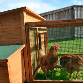 DELUXE LARGE Chicken Coop House Hutch Cage + RUN Wooden Hen Rabbit