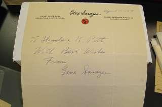 1939 Gene Sarazen Signed Vintage Wilson Letterhead