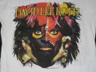 1986 DAVID LEE ROTH VTG CONCERT T SHIRT 80s TOUR VAN HALEN EAT EM AND