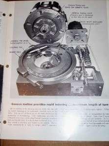 Vtg Jones&Lamson Machine Tool Catalog~Turret Lathe ATL