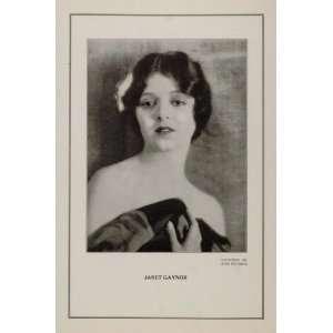 1927 Silent Film Star Janet Gaynor Fox Studios Print