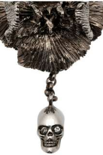 Alexander McQueen Iris and skull pendant choker   55% Off Now at THE