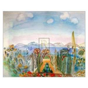 Baie De Nice   Poster by Raoul Dufy (30 x 24) Home & Kitchen