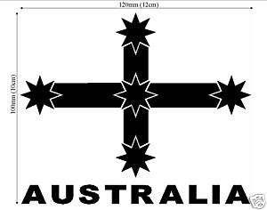 EUREKA CROSS AUSTRALIA decal.Car,ute,4wd,boat.UV vinyl