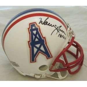Warren Moon Autographed/Hand Signed Houston Oilers Mini Helmet