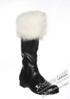 Mens Black Santa Boots   Santa Claus Costume Accessories