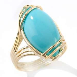 Heritage Gems Sleeping Beauty Turquoise 14K Wire Ring