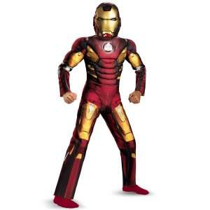 The Avengers Iron Man Mark VII Light Up Muscle Chest Kids Costume