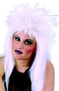 White Fiber Optic Wig   Female Costume Wigs