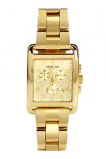 Kors Watches  Square Gold Chronograph Watch by Michael Kors Watches