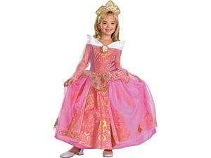 Princess Sleeping Beauty Aurora Prestige Child Costume Dress w/Tiara
