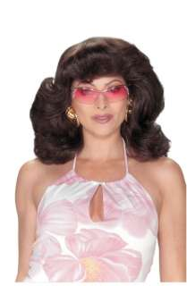 Dark Brown Angels 70s Wig   Go undercover as a private eye from the