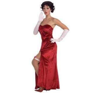 Betty Boop Long Velvet Dress Adult     1627397