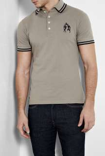 Westwood  Grey High Collar Crest Polo Shirt by Vivienne Westwood