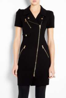 Moschino Cheap & Chic  Biker Zip Through Shirt Dress by Moschino