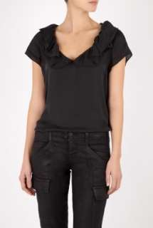 Moschino Cheap & Chic  Short Sleeve Wash Silk Blouse by Moschino
