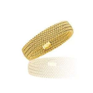 Fancy Bangle in 14K Yellow Gold Jewelry