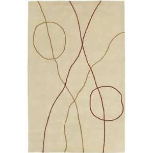 Surya   Studio   SR 102 Area Rug   8 Round   Red Gold Tan