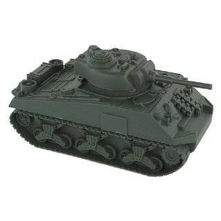 Sherman Military 1:32 Scale Toy Tank for 54mm Army Men Soldier Figures