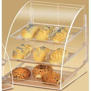 Cal Mil P255 Euro Style Curved Front Bakery Display Case