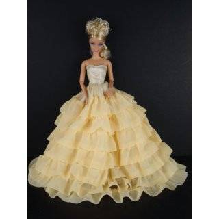 with Floral Lace and Large Gold Lace Accents Made for the Barbie Doll