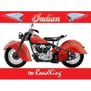 Indian Motor Bike   The Road King   Metal Wall Sign
