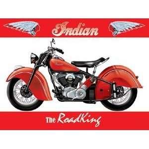 Indian Motor Bike   The Road King   Metal Wall Sign